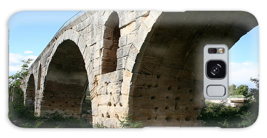 Roman Stonebridge Galaxy S8 Case featuring the photograph Roman Bridge Pont St. Julien by Christiane Schulze Art And Photography
