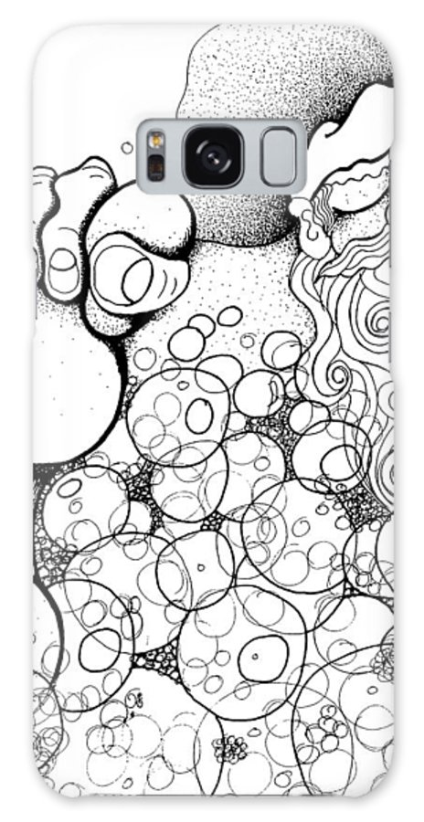 Xmas Galaxy S8 Case featuring the drawing Santa's Long Night by Joy Bradley