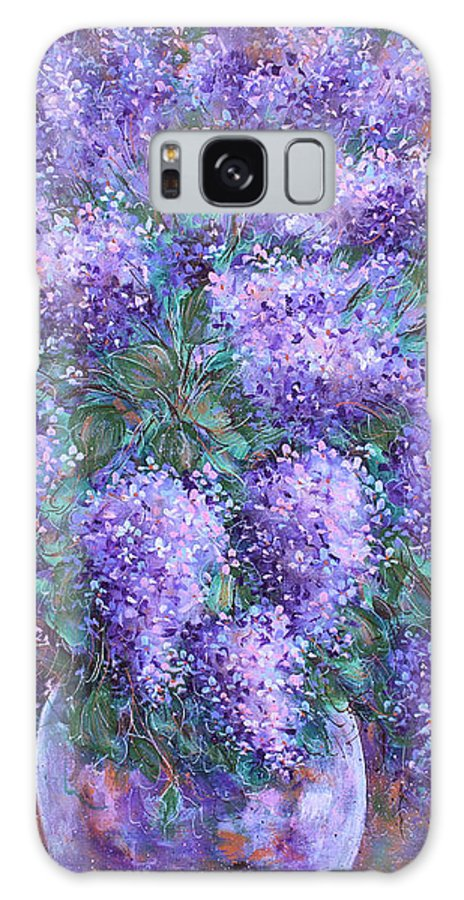 Flowers Galaxy Case featuring the painting Scented Lilacs Bouquet by Natalie Holland