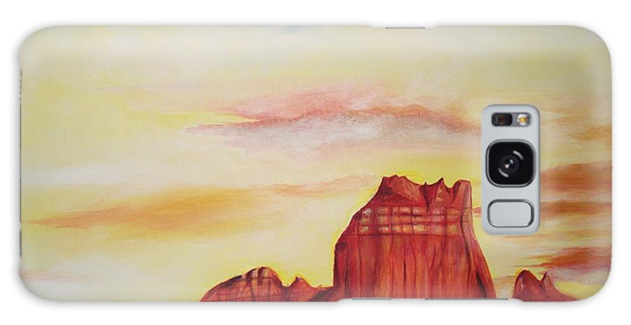 Western Galaxy S8 Case featuring the painting Sedona Az by Eric Schiabor