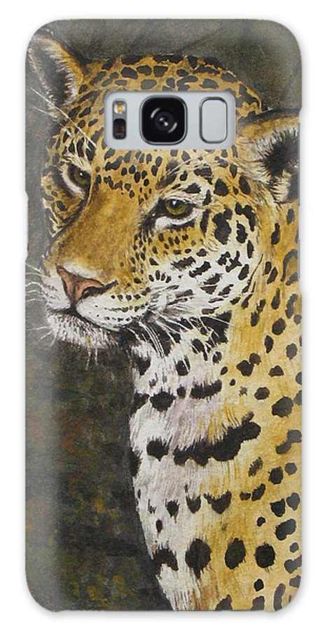 Wildlife Galaxy S8 Case featuring the painting South American Jaguar by Elaine Booth-Kallweit