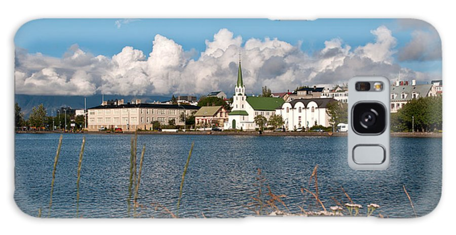 Iceland Galaxy S8 Case featuring the photograph The Pond In Reykjavik. by Jackie Follett