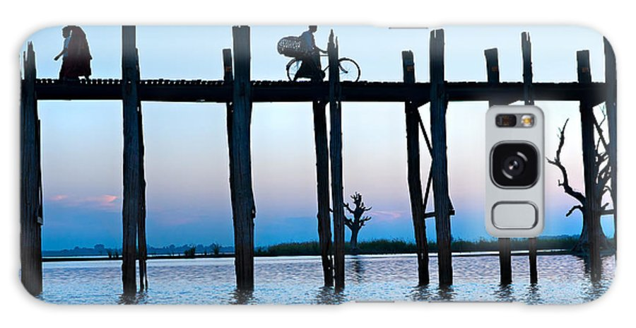 Ancient Galaxy S8 Case featuring the photograph U Bein Bridge At Amarapura - Myanmar by Luciano Mortula