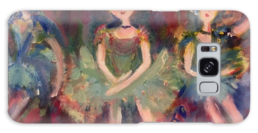 Ballet Galaxy S8 Case featuring the painting Victorian Christmas Ballet by Judith Desrosiers