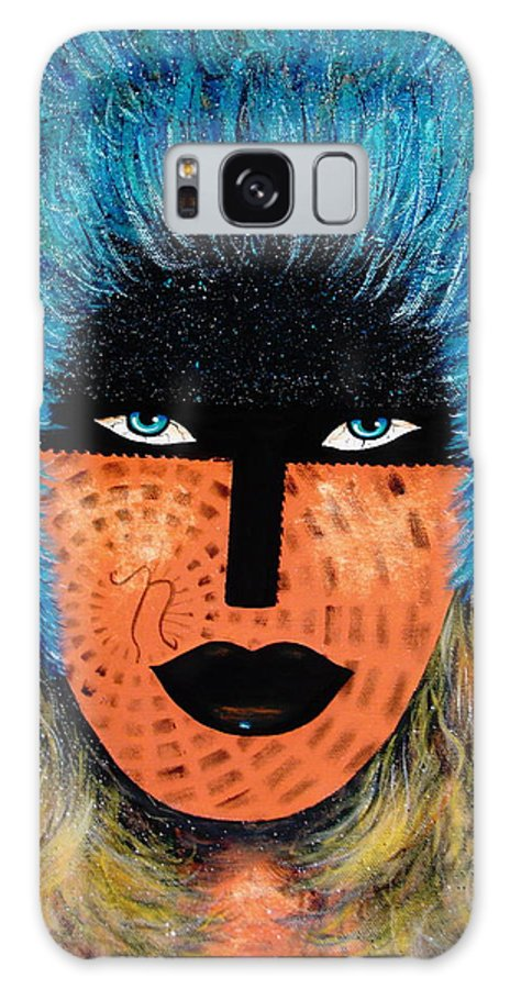 Woman Galaxy Case featuring the painting Viva Niva by Natalie Holland