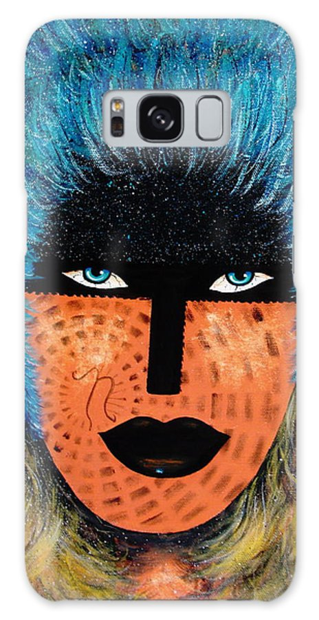 Woman Galaxy S8 Case featuring the painting Viva Niva by Natalie Holland