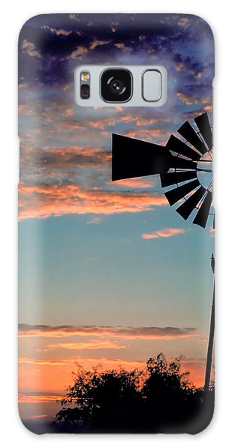 Windmill Galaxy S8 Case featuring the photograph Windmill At Dawn by David and Carol Kelly