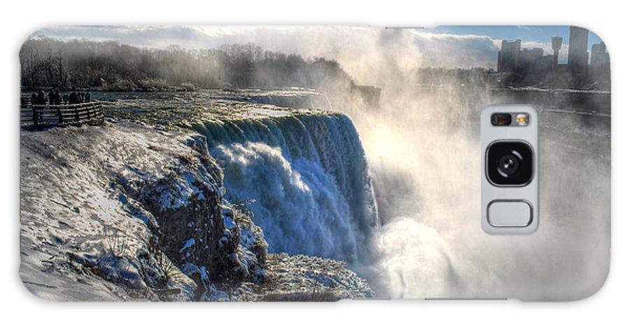 Niagara Falls Galaxy S8 Case featuring the photograph 004 Niagara Falls Winter Wonderland Series by Michael Frank Jr