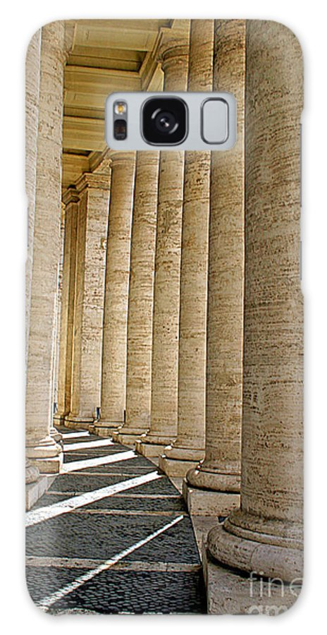 Rome Galaxy S8 Case featuring the photograph 0056 Roman Pillars St. Peter's Basilica Rome by Steve Sturgill