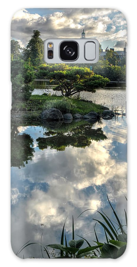Garden Galaxy S8 Case featuring the photograph 007 Delaware Park Japanese Garden Mirror Lake Series by Michael Frank Jr