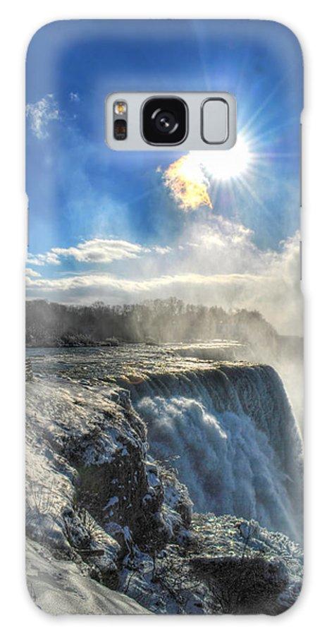 Niagara Falls Galaxy S8 Case featuring the photograph 008 Niagara Falls Winter Wonderland Series by Michael Frank Jr