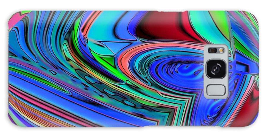 Blue Galaxy S8 Case featuring the digital art 01-01-2014 by John Holfinger
