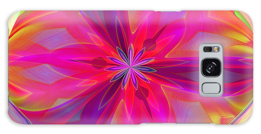 Red Galaxy S8 Case featuring the digital art 01-07-2014 by John Holfinger