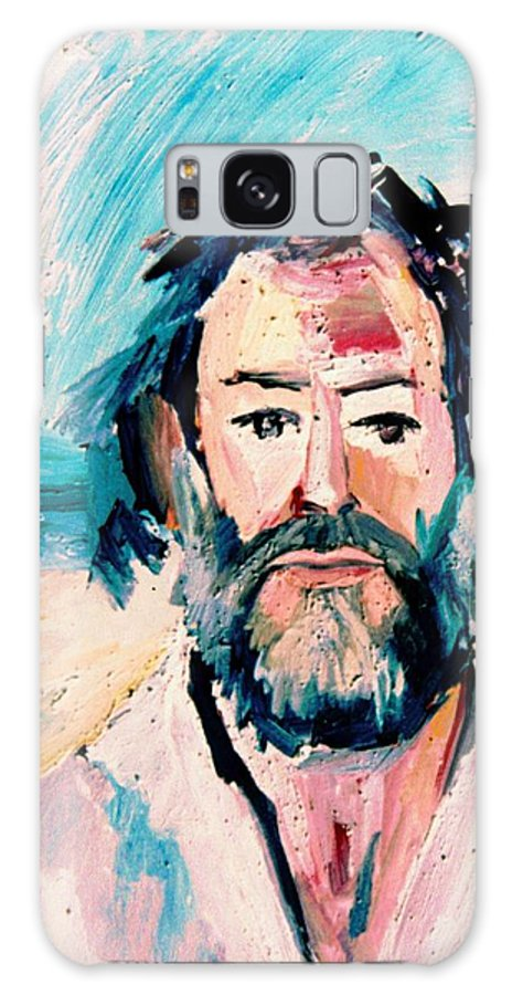 Galaxy S8 Case featuring the painting 01. Les The Artist by Les Melton