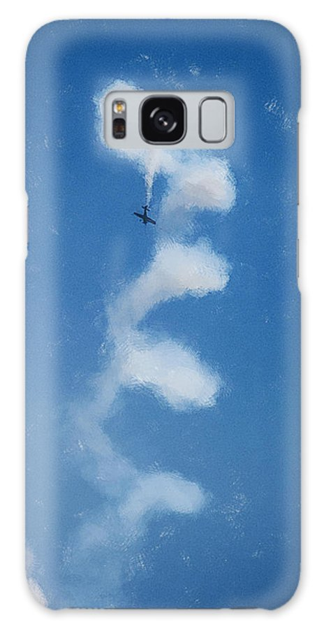 Chicago Galaxy S8 Case featuring the digital art 0107 - Air Show - Color Drawing by David Lange