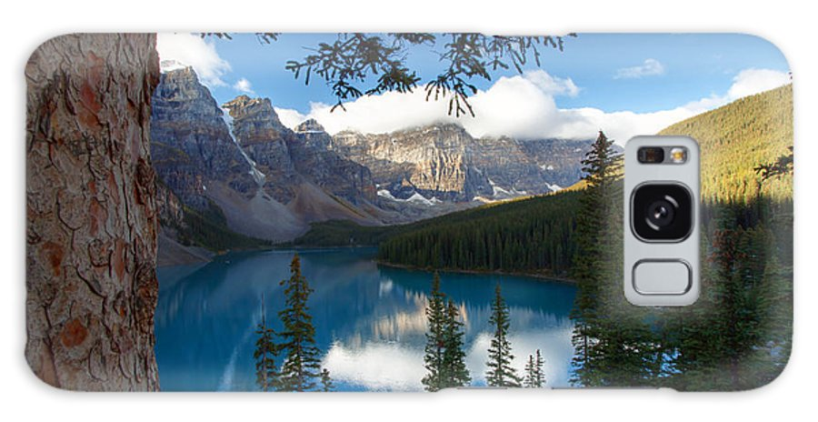 Moraine Galaxy S8 Case featuring the photograph 0164 Moraine Lake by Steve Sturgill