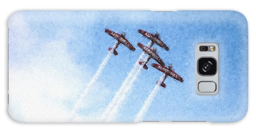 Chicago Galaxy S8 Case featuring the digital art 0166 - Air Show - Pastel Chalk 2 by David Lange