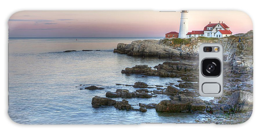 Portland Galaxy S8 Case featuring the photograph 0312 Portland Head Lighthouse by Steve Sturgill