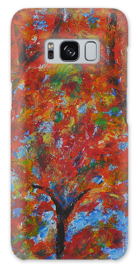 Abstract Galaxy S8 Case featuring the painting 052 Abstract Thought by Chowdary V Arikatla