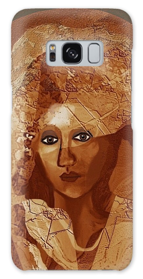Woman Galaxy S8 Case featuring the painting 085 - Romantic Bride ... by Irmgard Schoendorf Welch