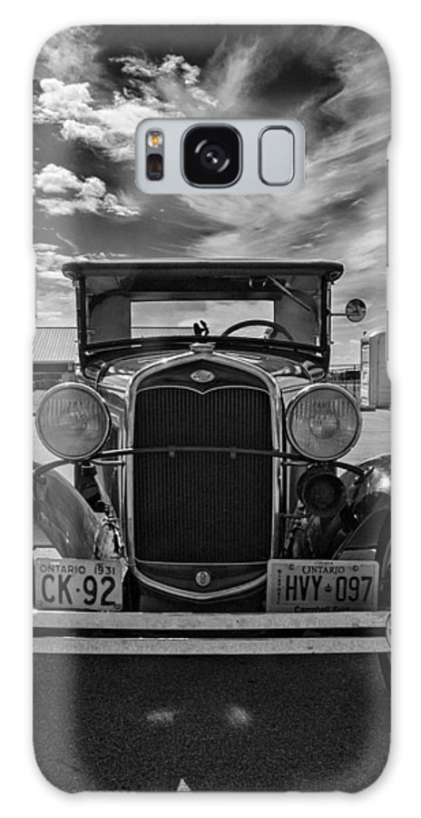 Ford Galaxy S8 Case featuring the photograph 1931 Model T Ford Monochrome by Steve Harrington