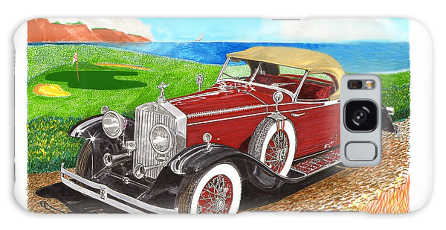 1931 Rolls Royce Henley Roadster Watercolor Painting By Jack Pumphrey Galaxy S8 Case featuring the painting Rolls Royce Henley Roadster by Jack Pumphrey