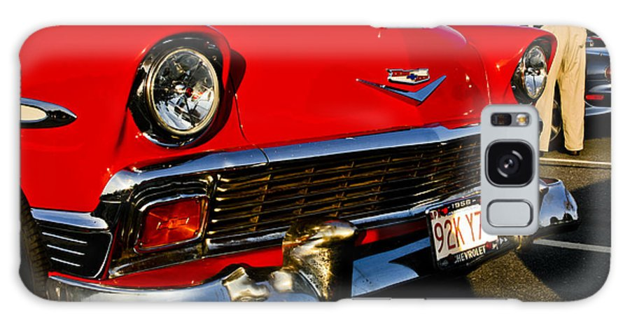 Transportation Galaxy S8 Case featuring the photograph 1955 Chevy Bel Air Front End by Dennis Coates