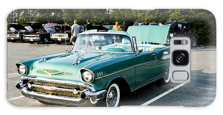Transportation Galaxy S8 Case featuring the photograph 1957 Chevy Bel Air Green by Dennis Coates