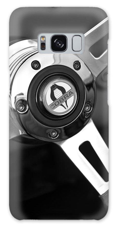 1965 Shelby Cobra 427 Steering Wheel Emblem Galaxy S8 Case featuring the photograph 1965 Shelby Cobra 427 Steering Wheel Emblem by Jill Reger