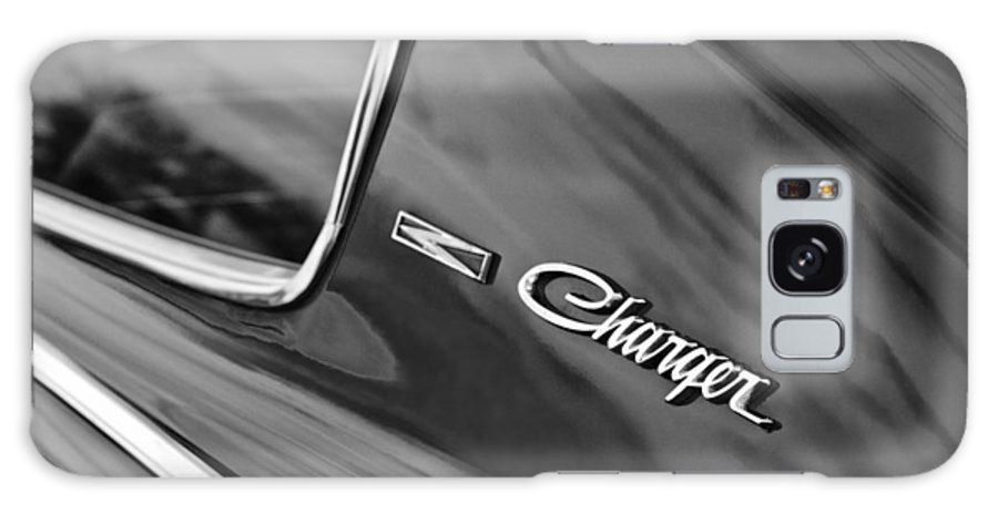 1966 Dodge Charger Emblem Galaxy S8 Case featuring the photograph 1966 Dodge Charger Emblem by Jill Reger