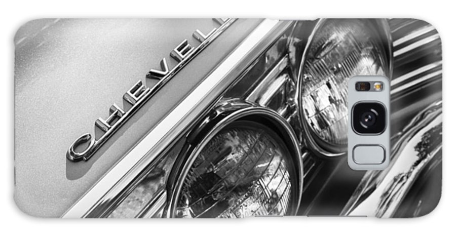1967 Chevrolet Chevelle Malibu Head Light Emblem Galaxy S8 Case featuring the photograph 1967 Chevrolet Chevelle Malibu Head Light Emblem by Jill Reger
