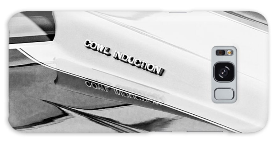 1980 Chevrolet Malibu Ss Cowl Induction Hood Emblem Galaxy S8 Case featuring the photograph 1980 Chevrolet Malibu Ss Cowl Induction Hood Emblem by Jill Reger