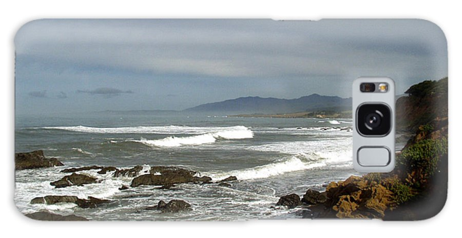 A Hazy Day In Morro Bay Ii Galaxy S8 Case featuring the photograph A Hazy Day In Morro Bay II by Barbara Snyder