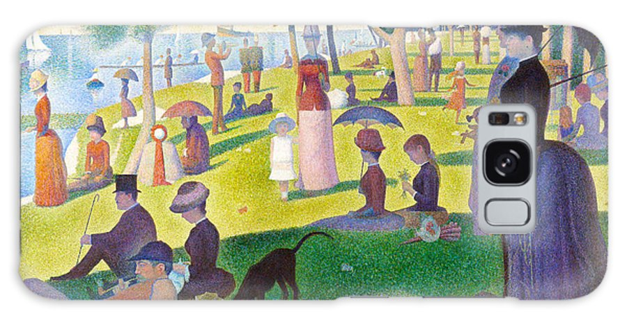 Georges Seurat Galaxy S8 Case featuring the painting A Sunday On La Grande Jatte by Georges Seurat