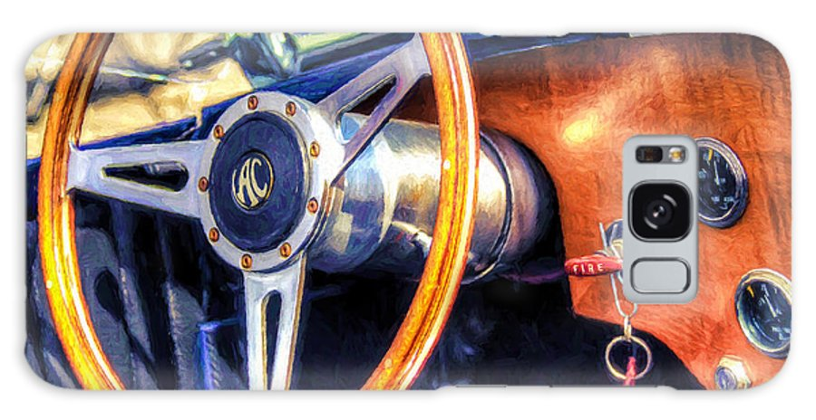 Ac Galaxy S8 Case featuring the painting Ac Shelby Cobra Oil Painting by Accelerated Vision Photography