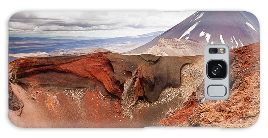 Mount Galaxy S8 Case featuring the photograph Active Volcanoe Cone Of Mt Ngauruhoe New Zealand by Stephan Pietzko