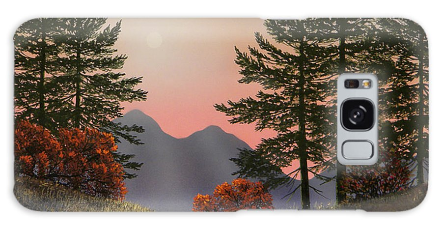 Mountains Galaxy S8 Case featuring the painting Alpine View by Frank Wilson