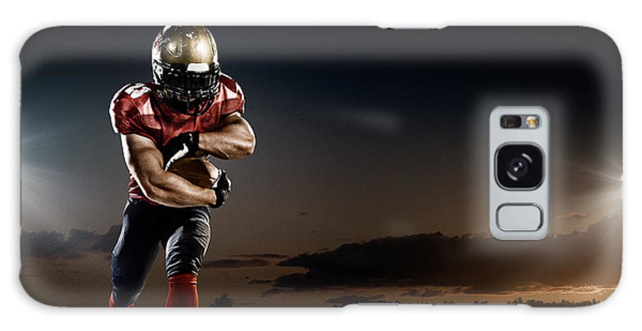 Soccer Uniform Galaxy Case featuring the photograph American Football In Action by Dmytro Aksonov