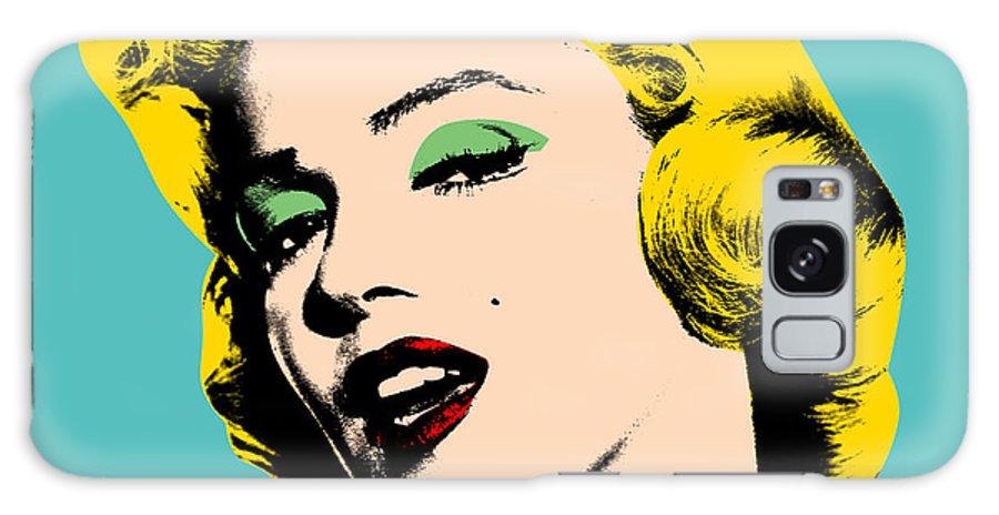 Pop Art Galaxy Case featuring the digital art Andy Warhol by Mark Ashkenazi