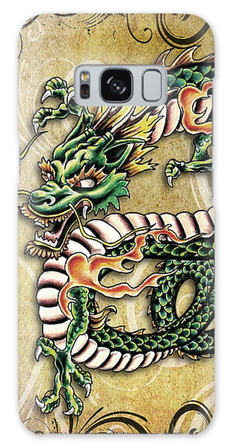 Creature Galaxy S8 Case featuring the mixed media Asian Dragon by Maria Arango