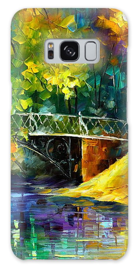Afremov Galaxy S8 Case featuring the painting Aura Of Autumn 3 by Leonid Afremov