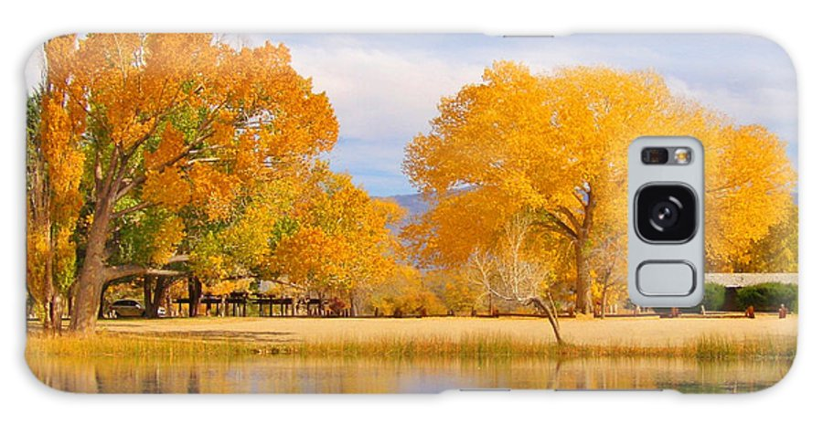 Sky Galaxy S8 Case featuring the photograph Autumn Orange by Marilyn Diaz