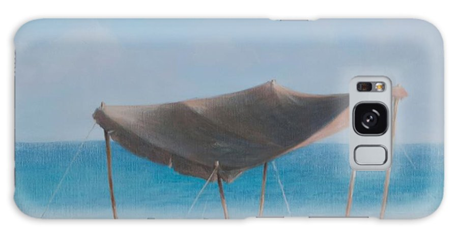 Beach Galaxy S8 Case featuring the photograph Beach Tent, 2012 Acrylic On Canvas by Lincoln Seligman