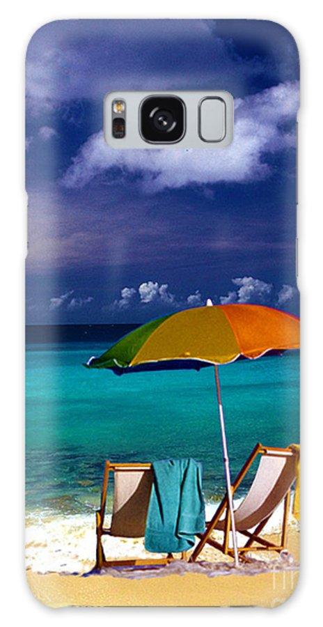Beach Umbrella Galaxy S8 Case featuring the photograph Beach Umbrella by Susanne Van Hulst