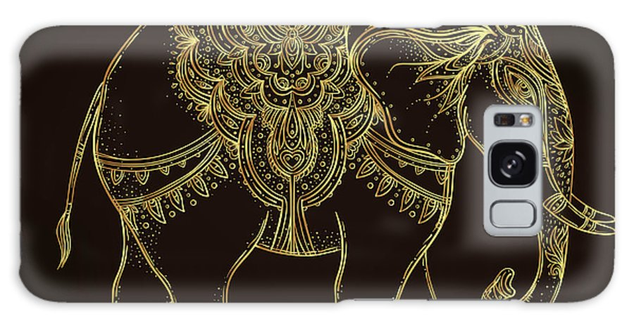Symbol Galaxy S8 Case featuring the digital art Beautiful Hand-drawn Tribal Style by Gorbash Varvara