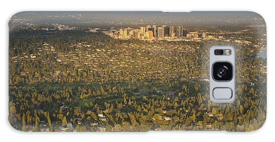 Bellevue Skyline Galaxy S8 Case featuring the photograph Bellvue Skyline At Sunset by Jim Corwin