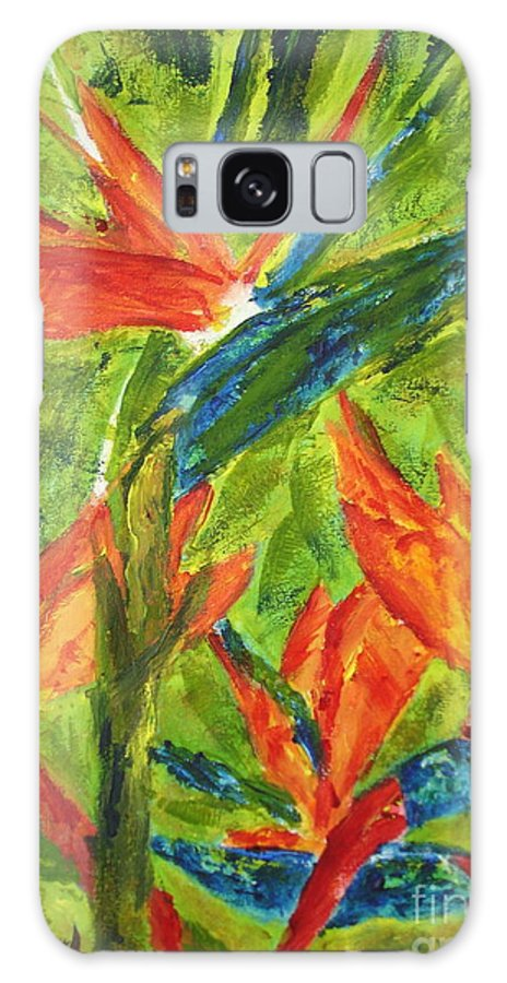 Painting Galaxy S8 Case featuring the painting Bird Of Paradise by Shelley Jones