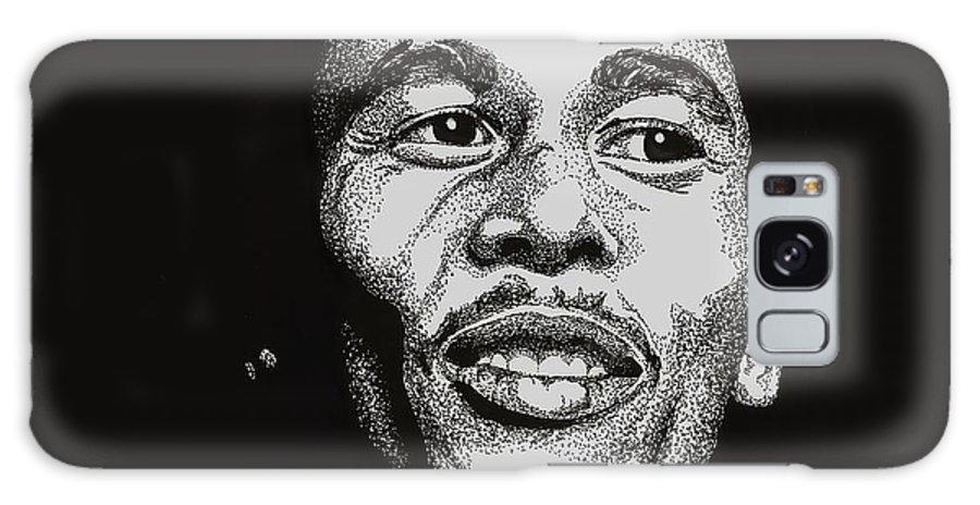 Bob Marley Galaxy S8 Case featuring the drawing Bob Marley by Cory Still