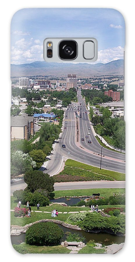 Views Galaxy S8 Case featuring the photograph Boise From Boise Depot Tower by Georgia Hamlin