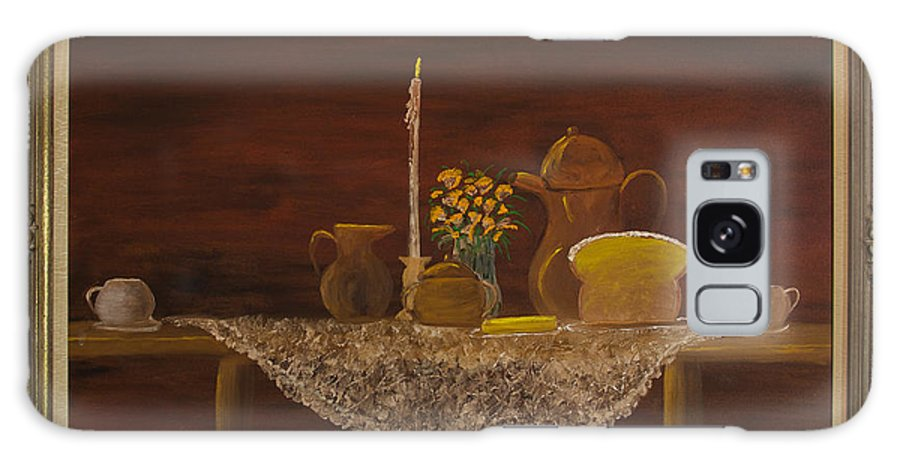 Table Setting Galaxy S8 Case featuring the painting Breaking Bread by Margaret Pappas